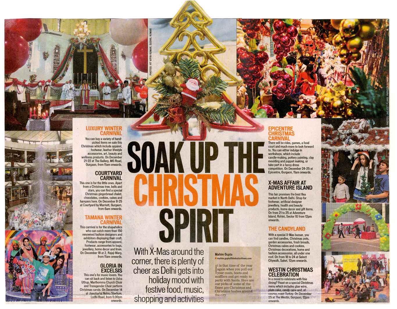 Soak up the Christmas spirit