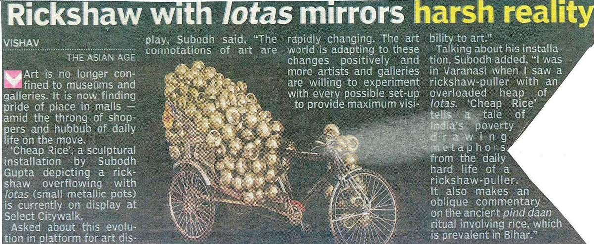 Rickshaw With Lotas Mirrors Harsh Reality