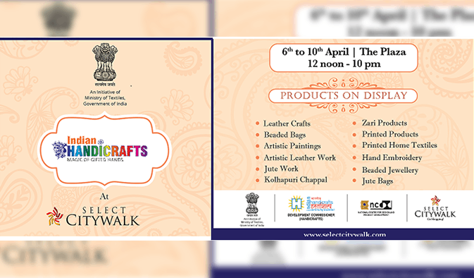 Indian Handicrafts- Magic of Gifted Hands organised by the Ministry Of Textiles, Government of India