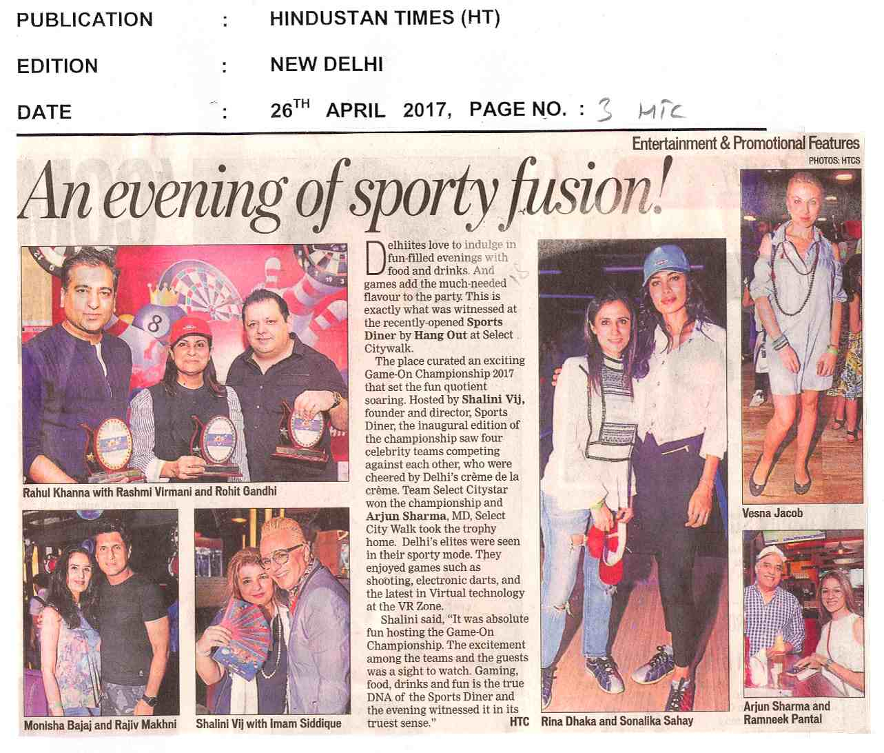 An Evening of Sporty Fusion!