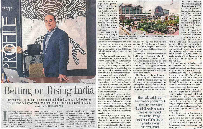 Betting On Rising India