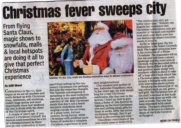 Christmas Fever Sweeps City-DEC