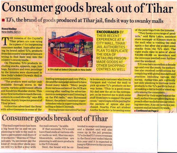 Consumer Goods Break Out Of Tihar