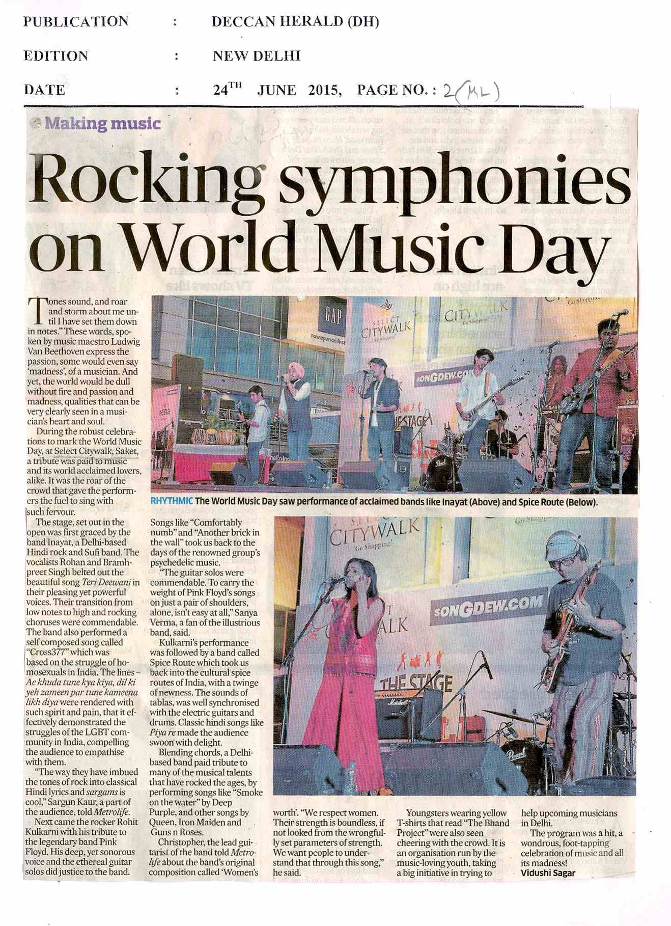 Rocking Symphonies on world Music Day