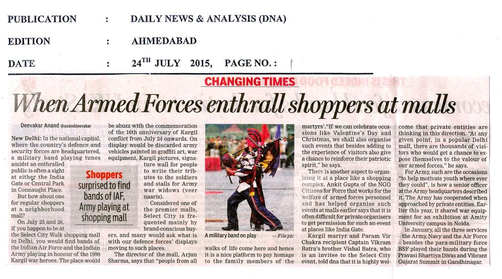 When armed forces enthrall shoppers at malls