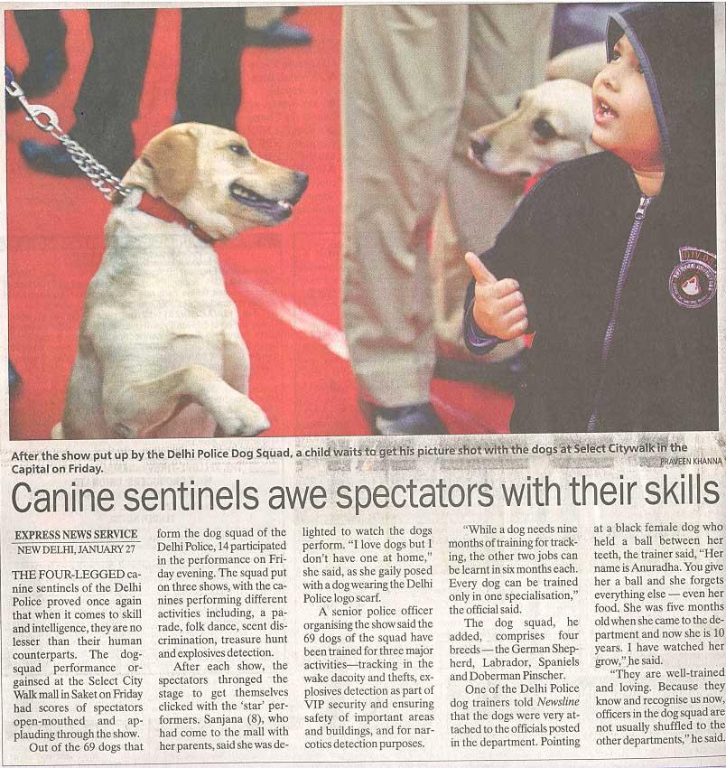 Delhi Police Dog Squad