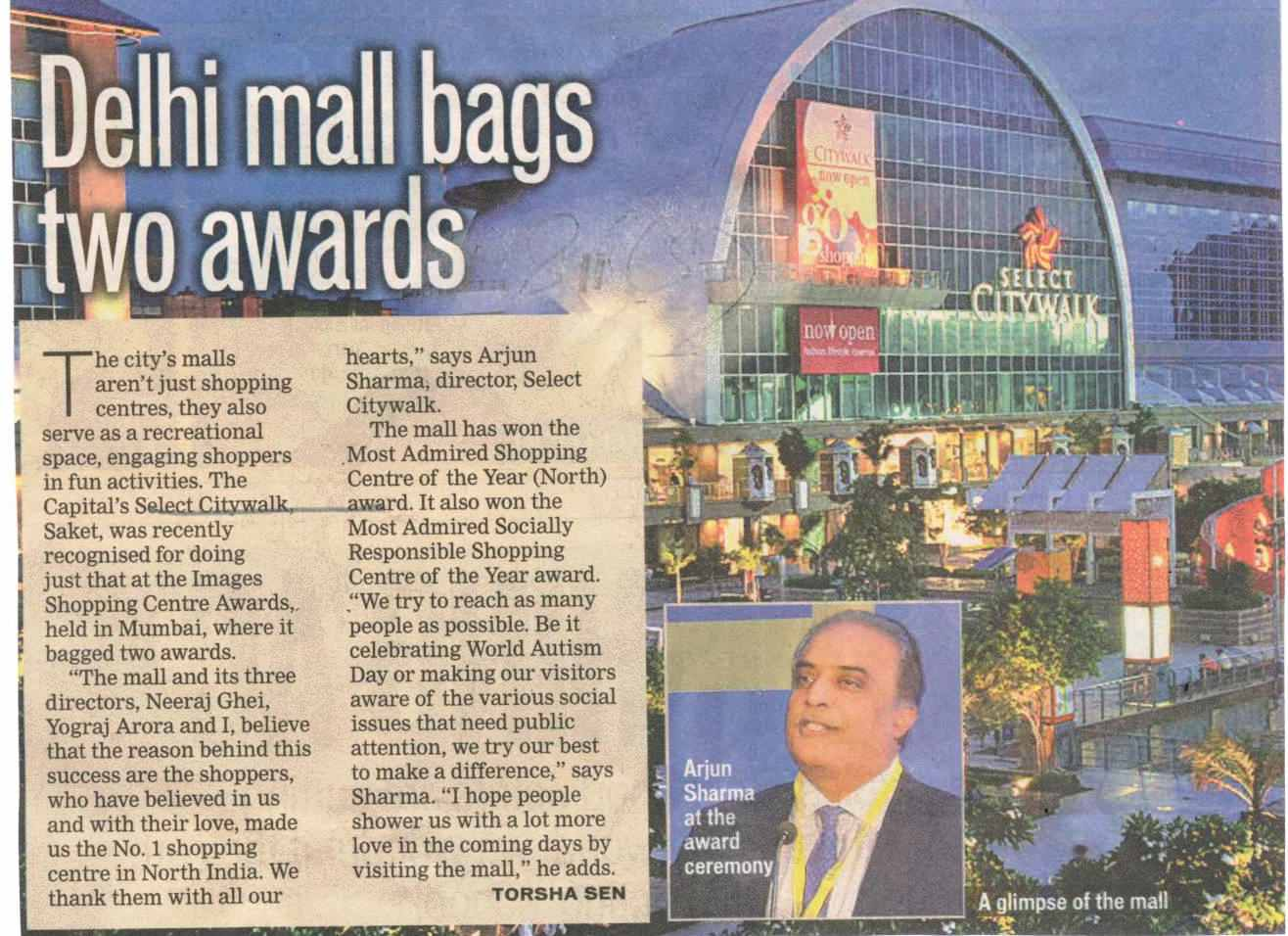 Delhi mall bags two awards