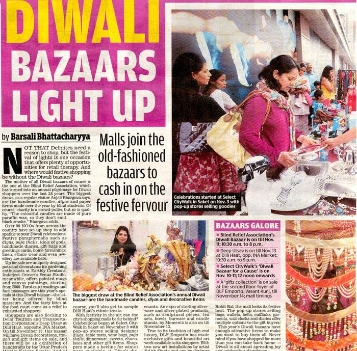 Diwali Bazaars Light Up