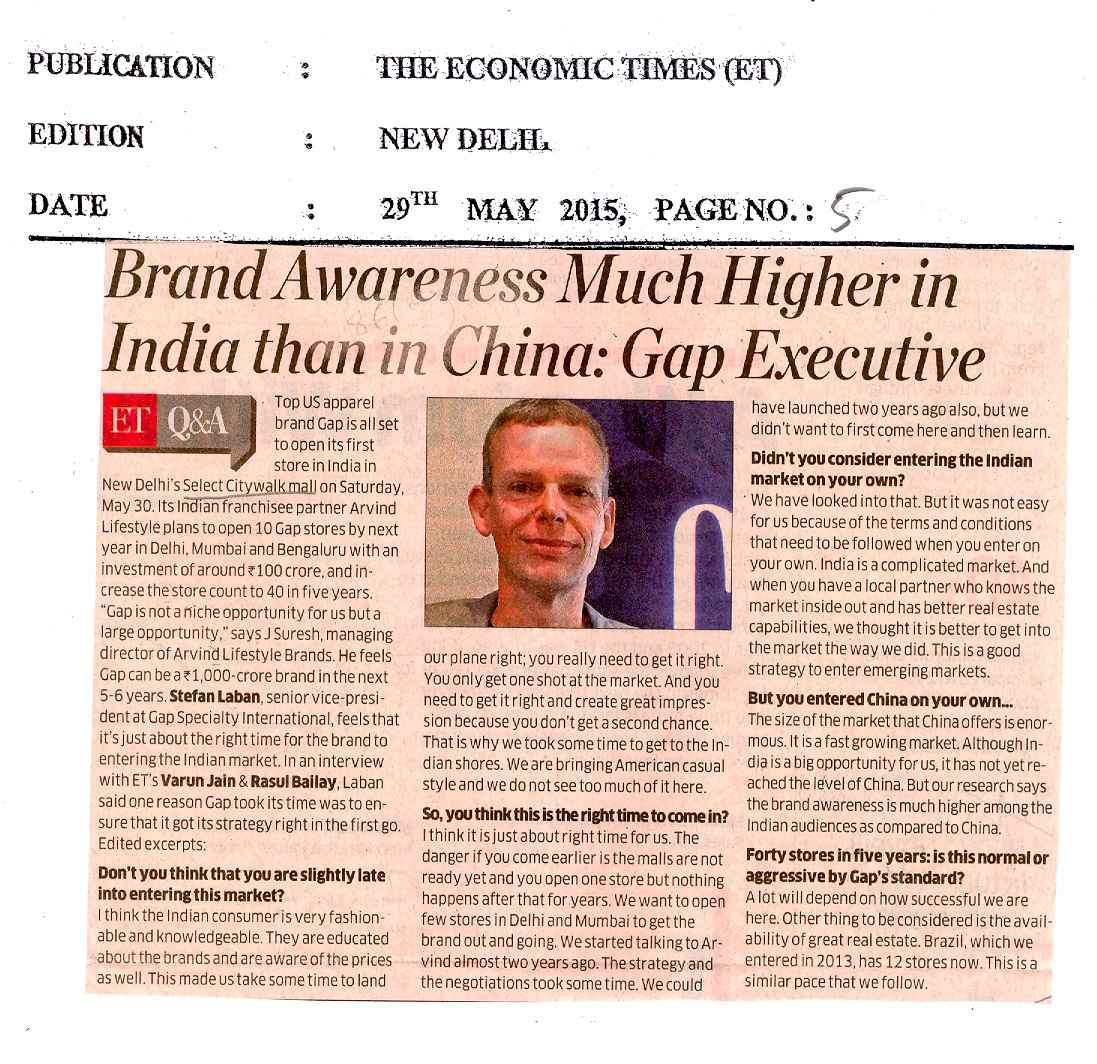 Brand Awareness Much Higher in India than in China.