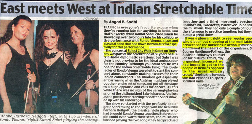 East Meets West At Indian Stretchable Time-FEB
