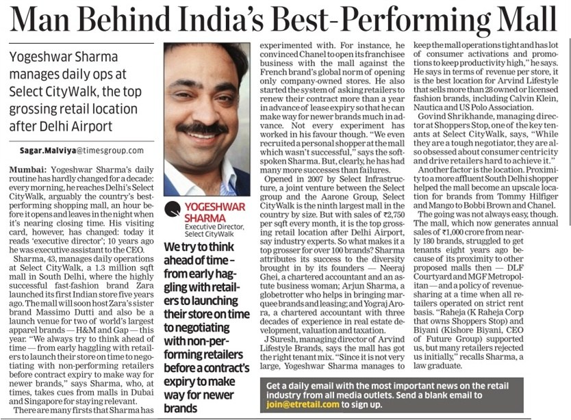 Man Behind India's Best Performing Mall.