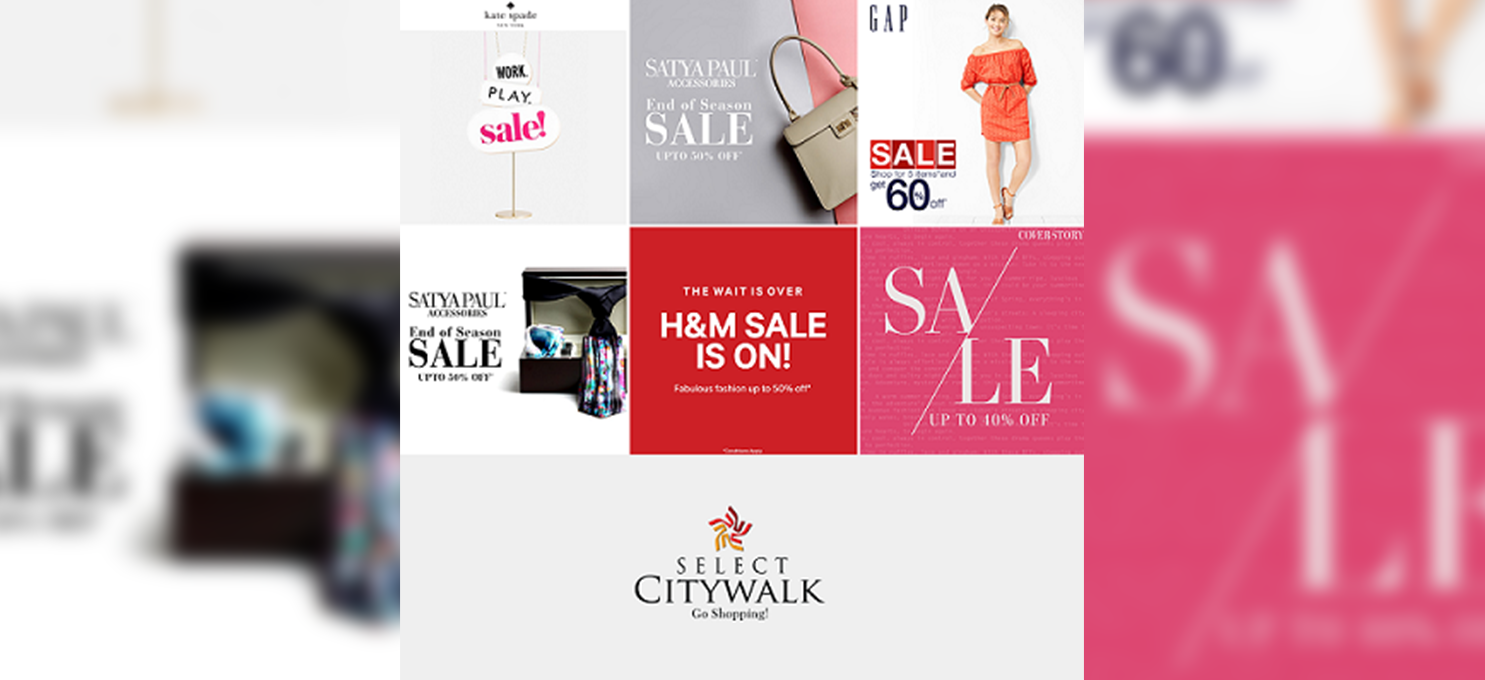End of Season sale at Select Citywalk
