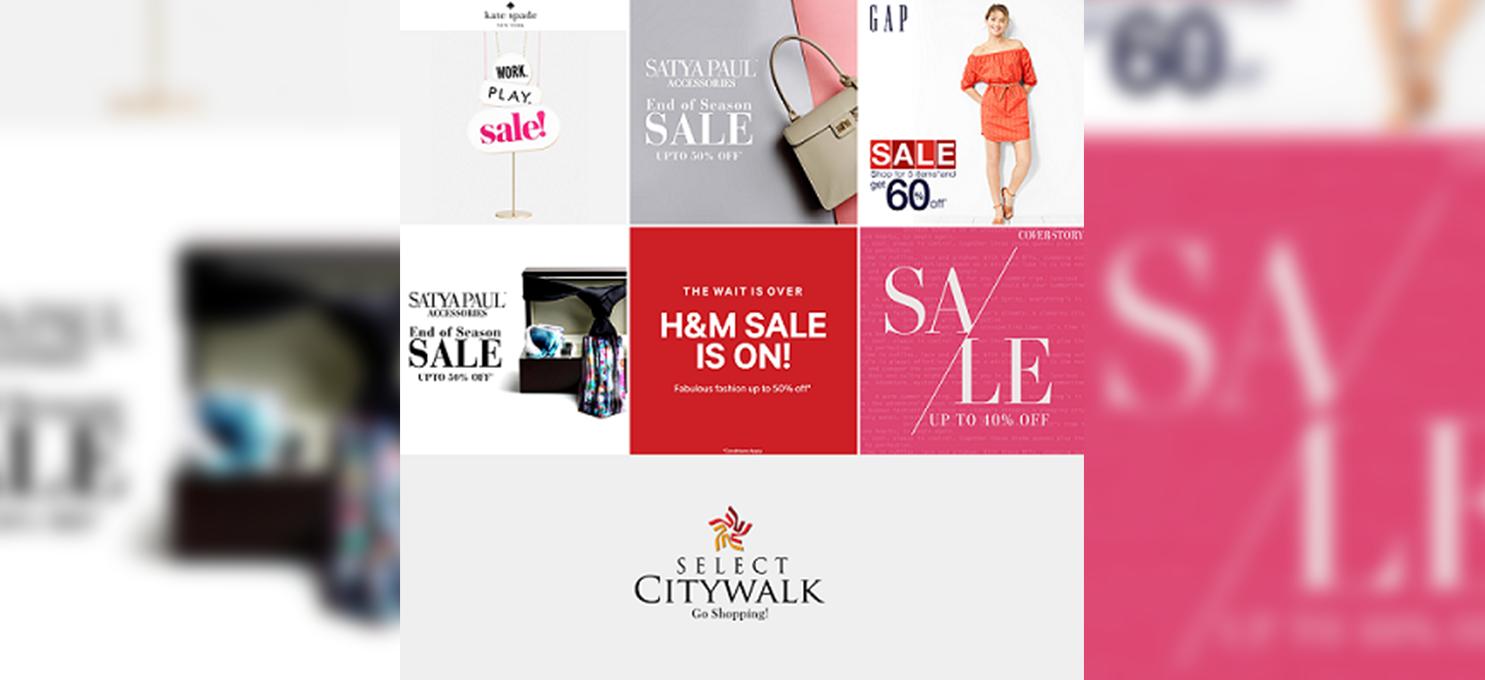 End of Season sale at Select Citywalk