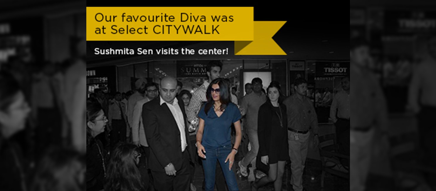 Our Favourite Diva Sushmita Sen at Select Citywalk