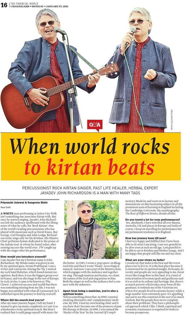 When World Rocks To Kirtan Beats