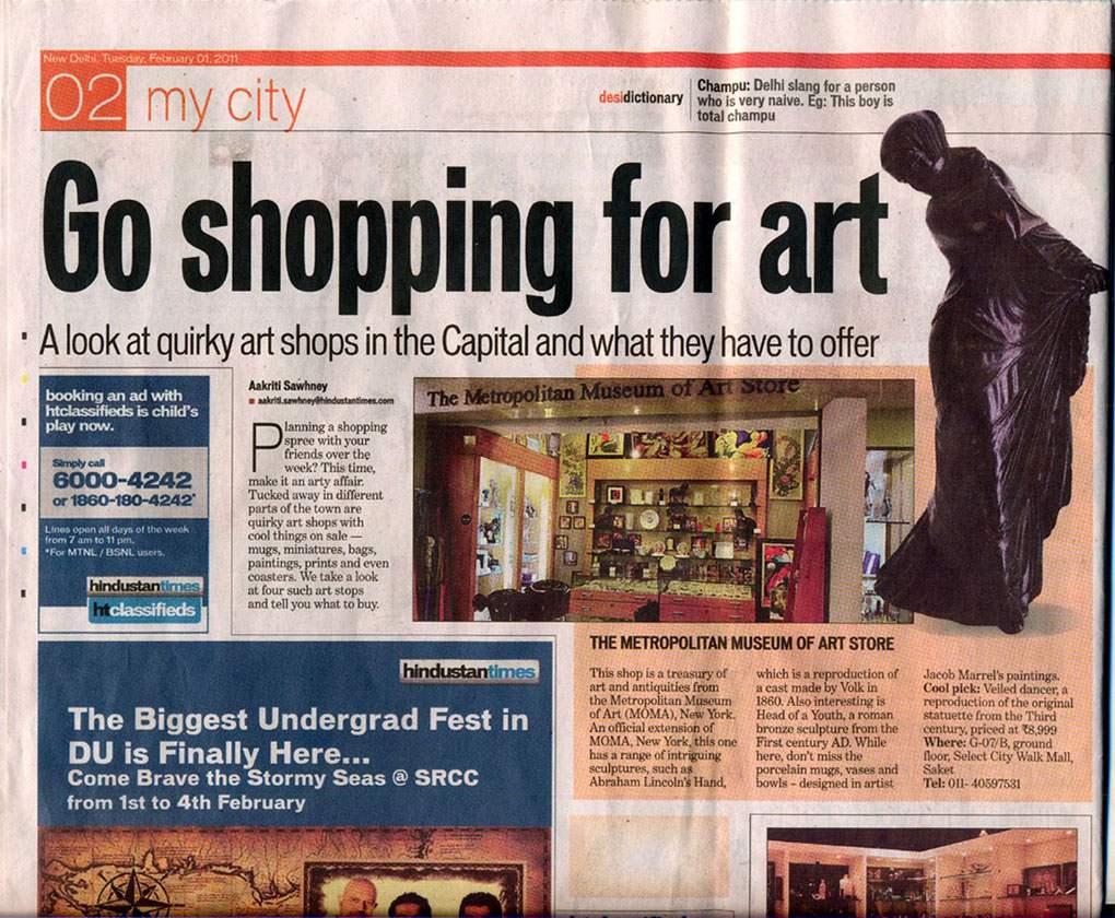 Go Shopping For Art
