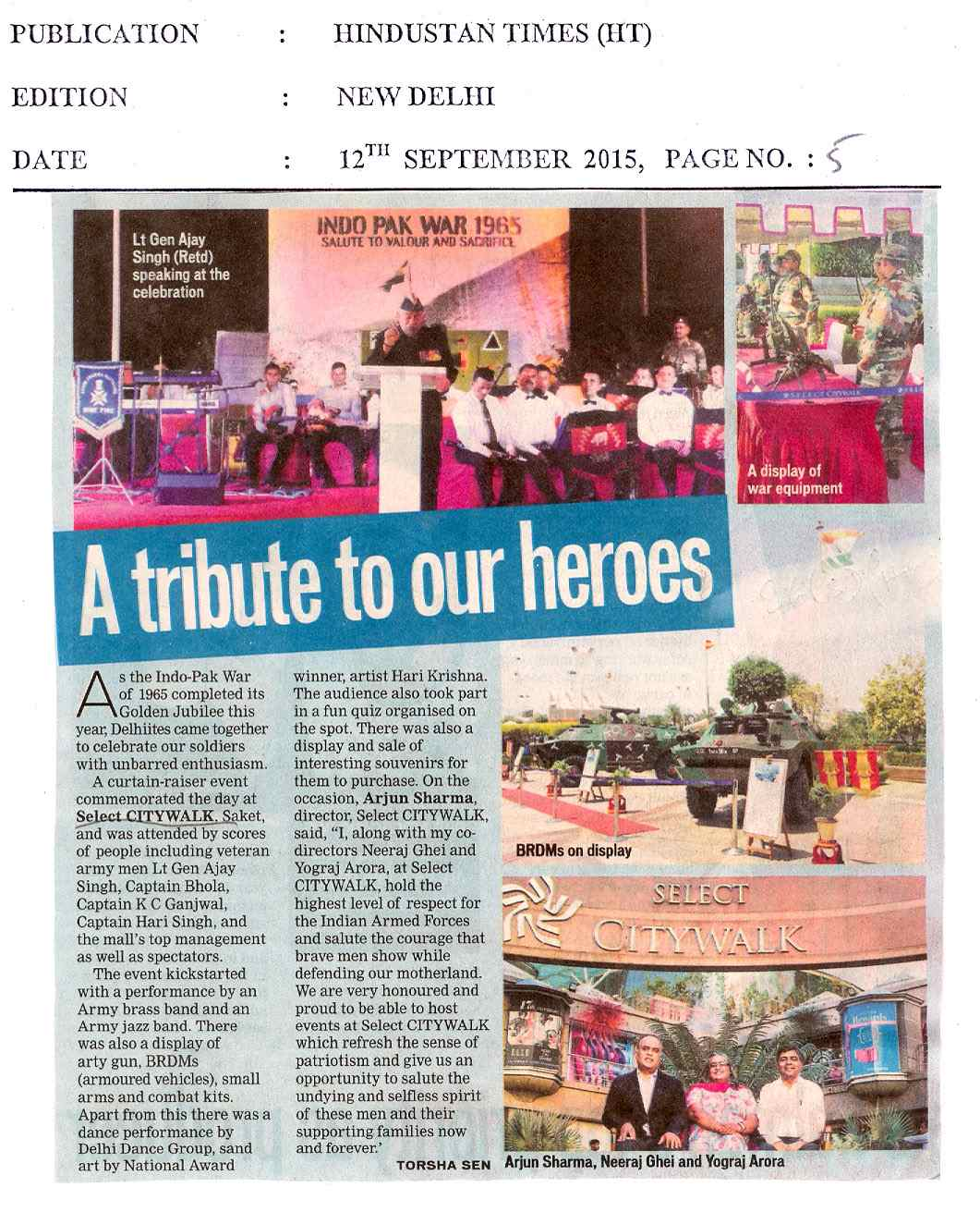 A tribute to our heroes