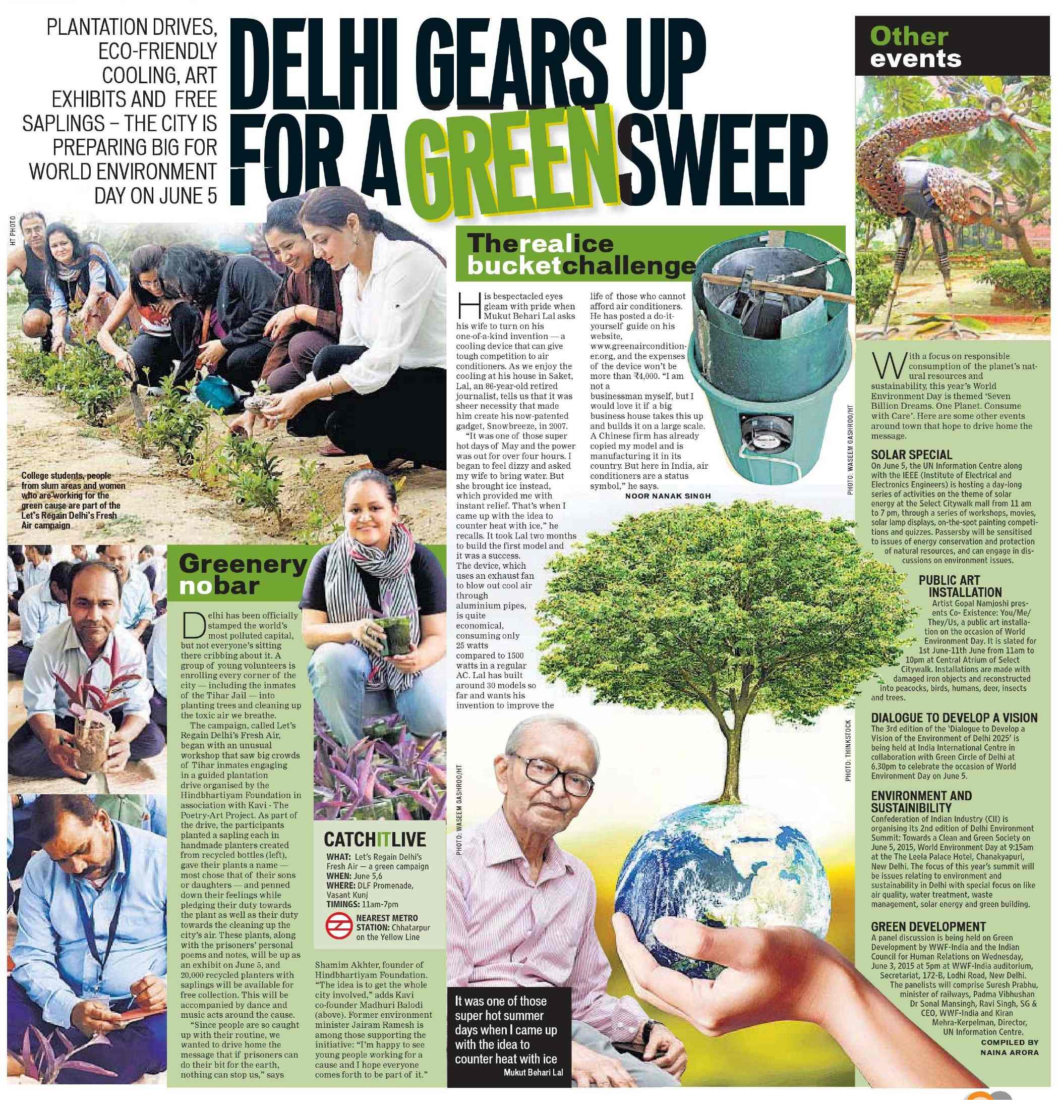 Delhi Gears up for a Green Sweep