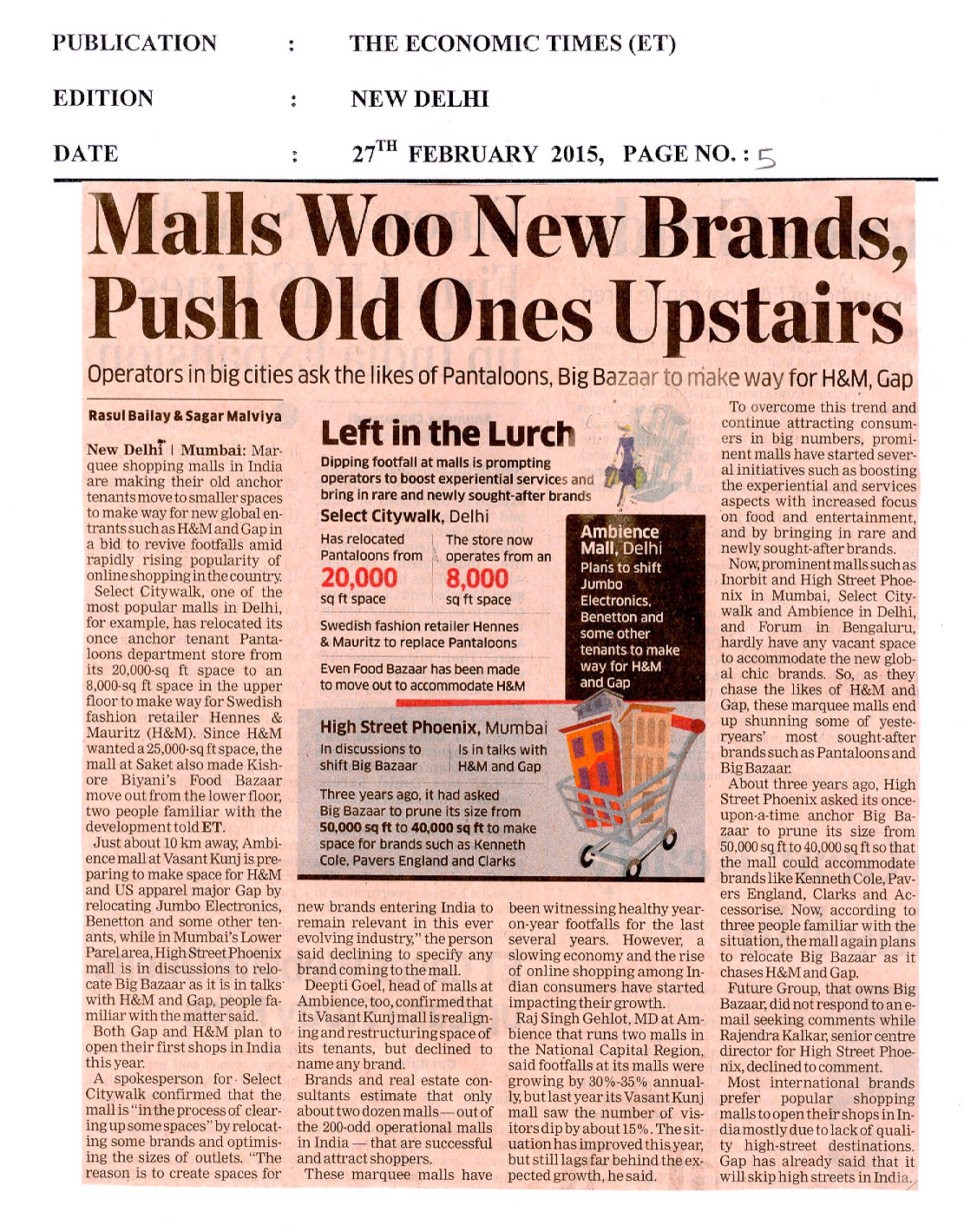 Malls Woo New Brands