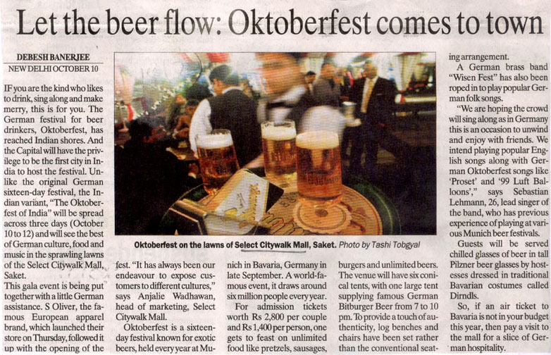 Let The Beer Flow oktoberfest Comes To Town - OCT