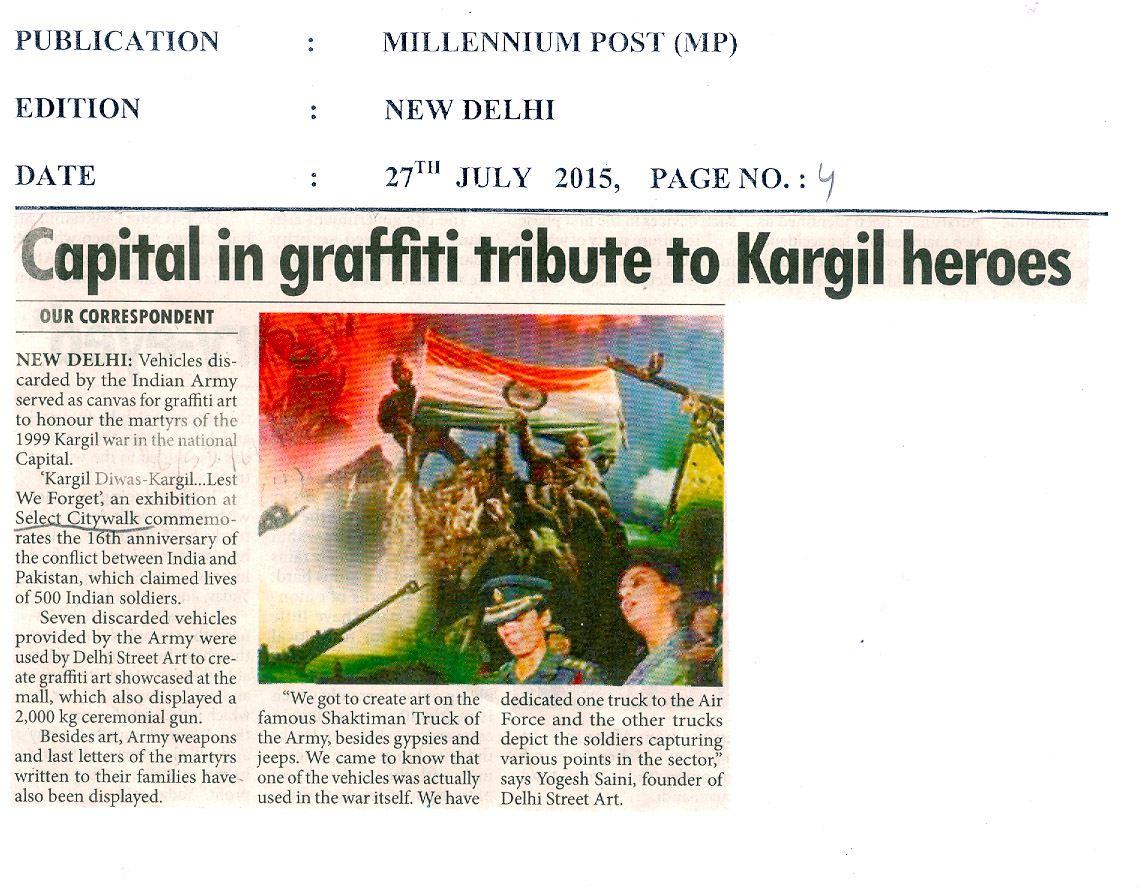 Capital in graffiti tribute to Kargil heroes