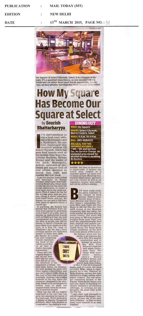 How My Square Has Becomes Our Square at Select