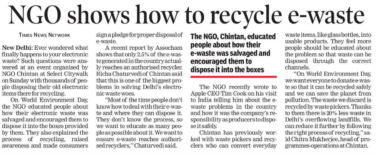 NGO shows how to recycle e-waste