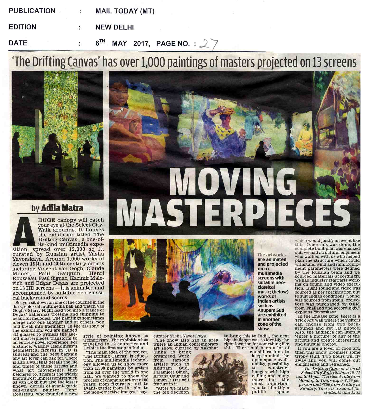 Moving Masterpieces