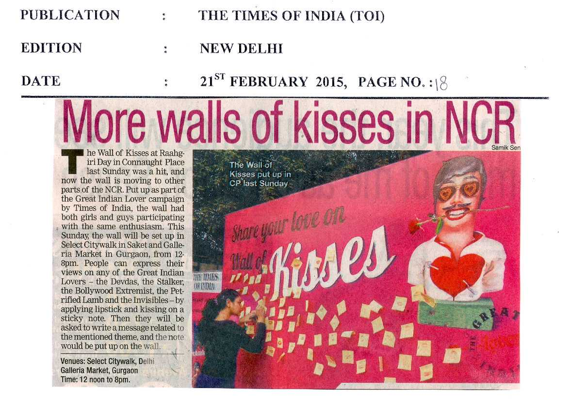 More Walls Of Kisses in NCR