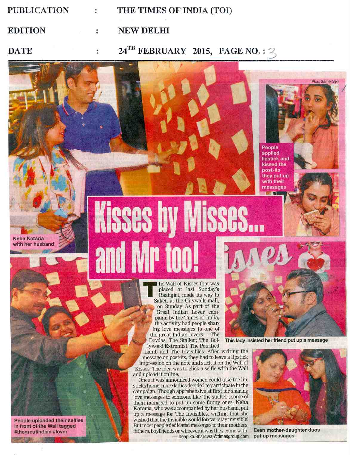 Kisses Misses... and Mr too!