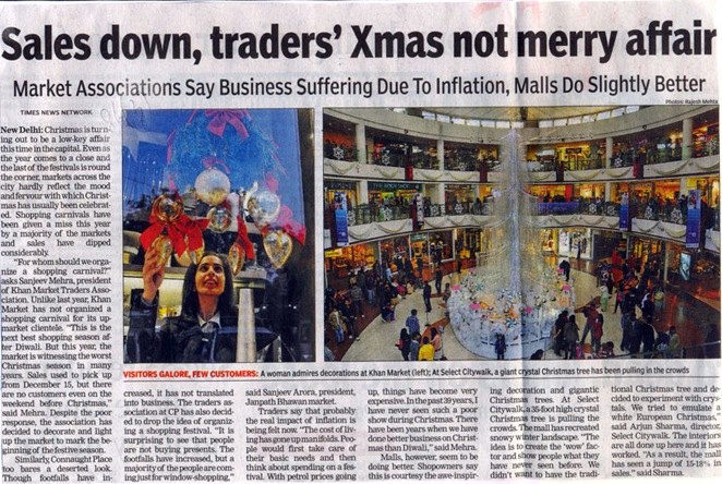 Sales Down Traders Xmas Not Merry Affair-DEC