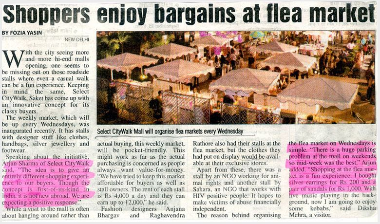 Shoppers Enjoy Bargains At Flea Market-JAN