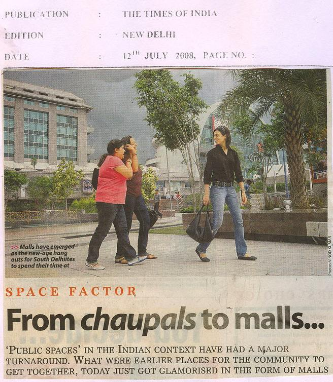 Space Factor From Chaupals To Malls-JULY