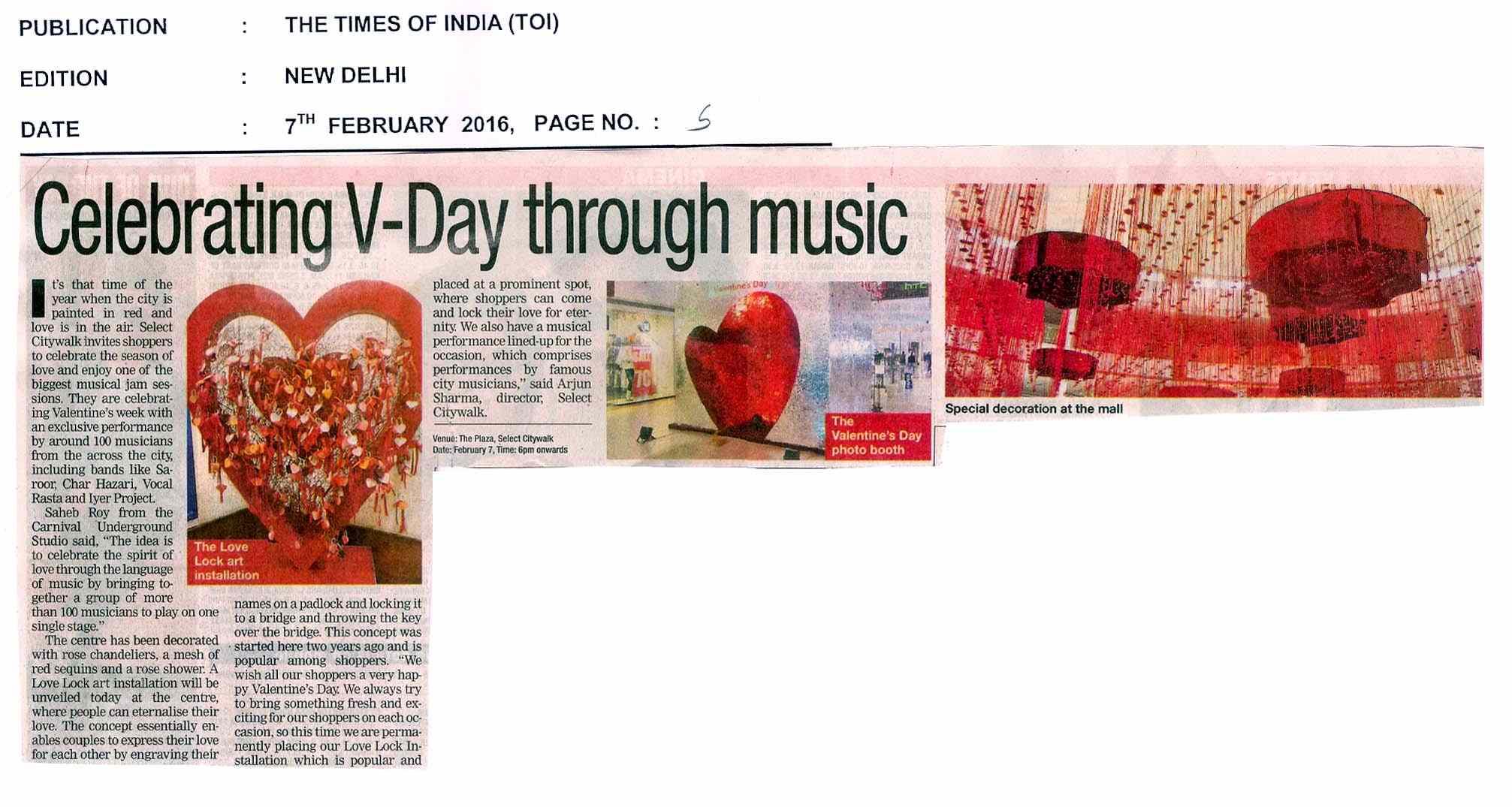 Celebrating V-Day through music