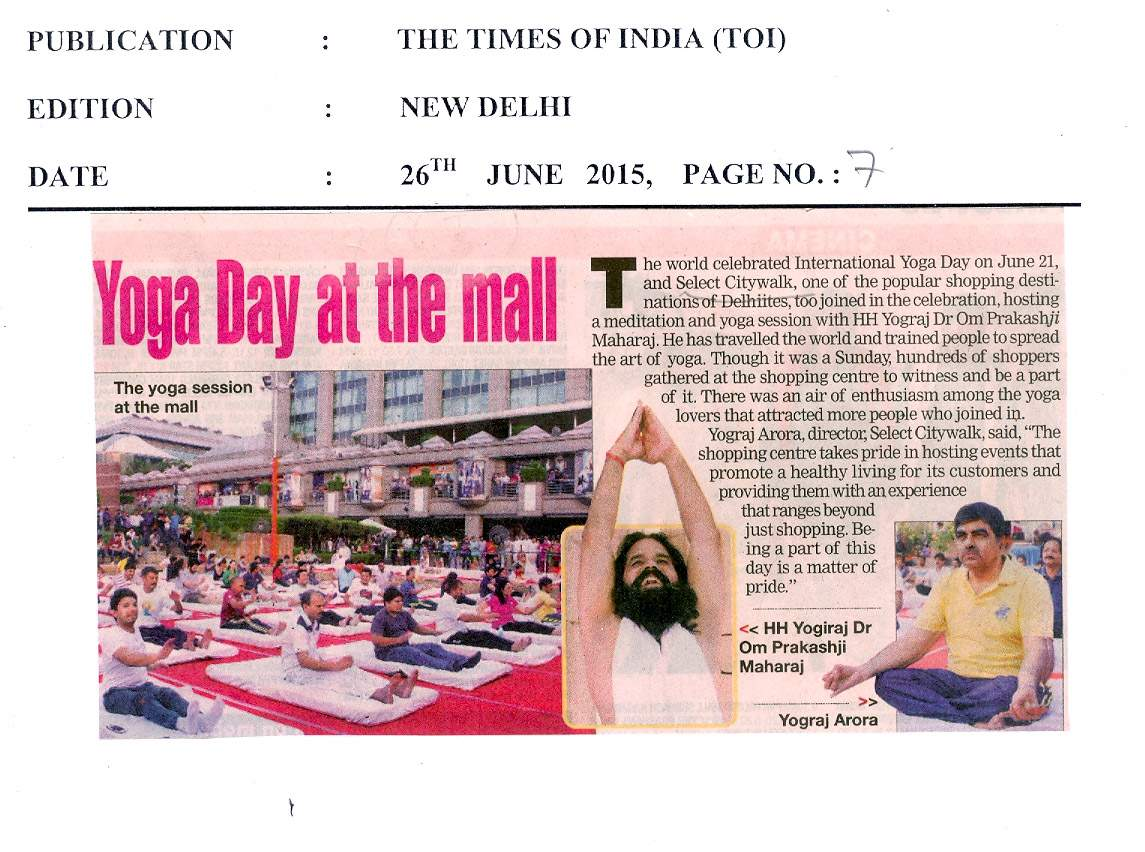 Yoga Day at the mall
