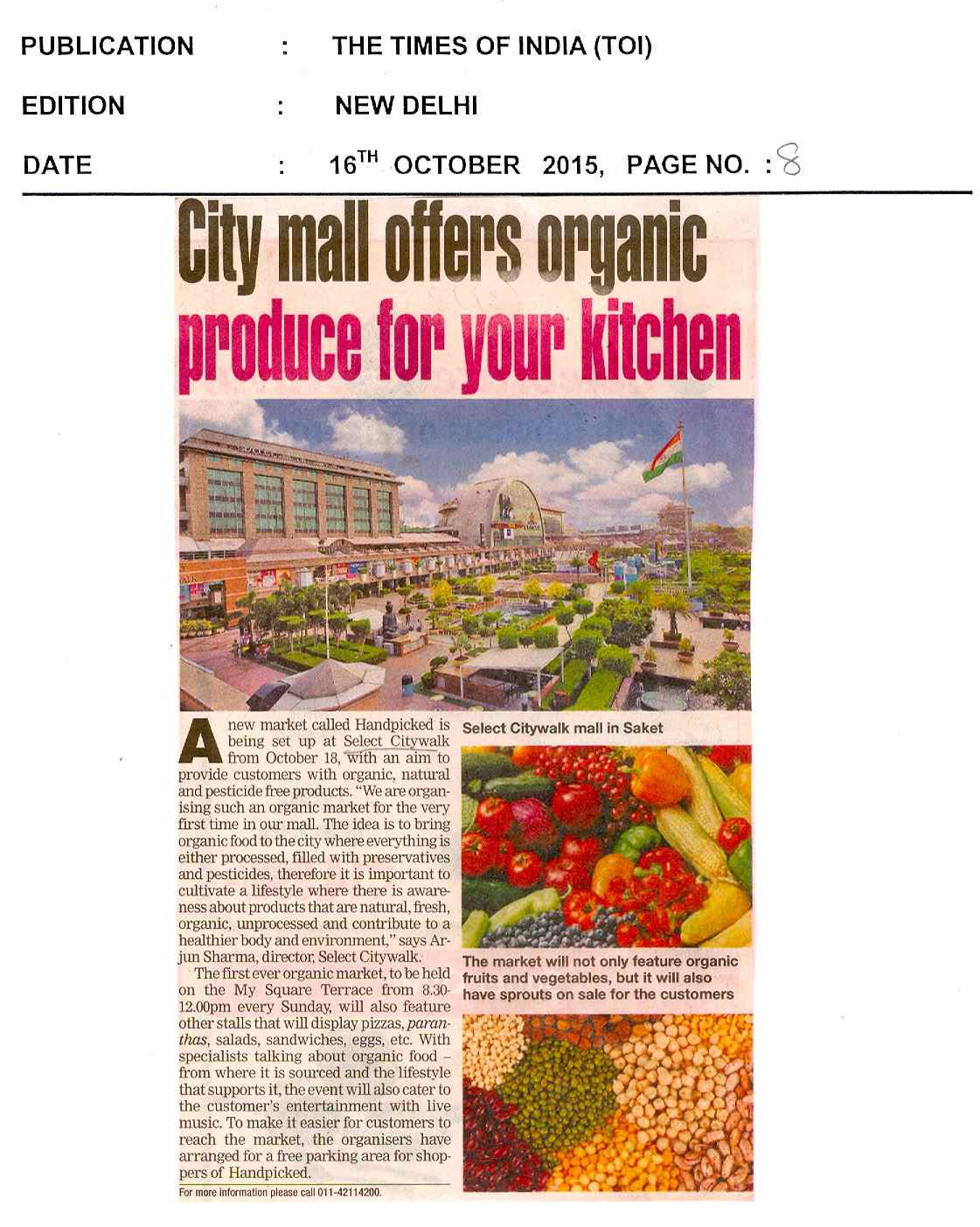 City mall offers organic produce for your kitchen