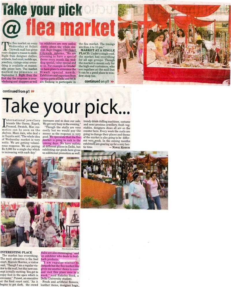 Take Your Pick @ Flea Market-JAN