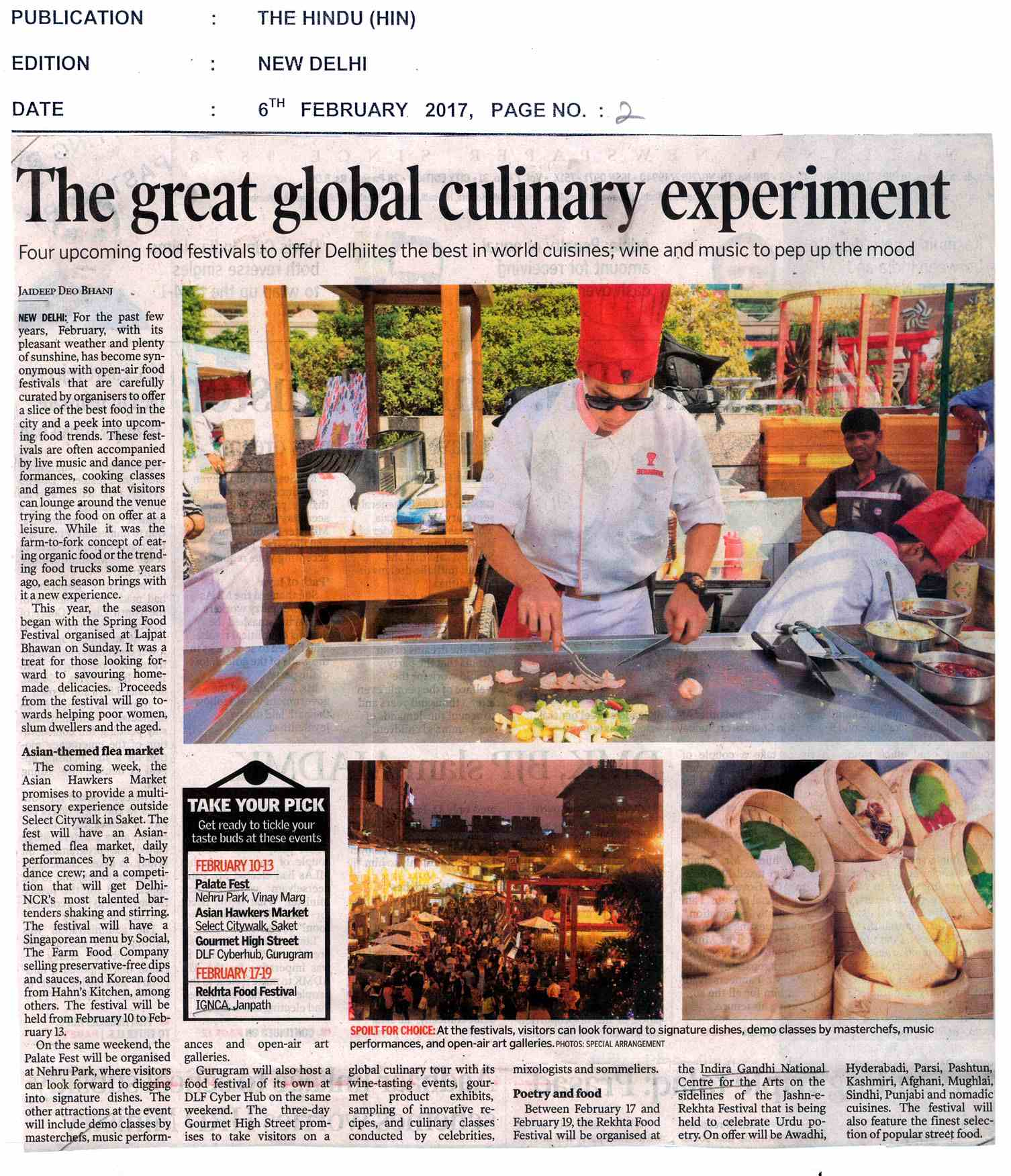 The Great Global Culinary Experiment