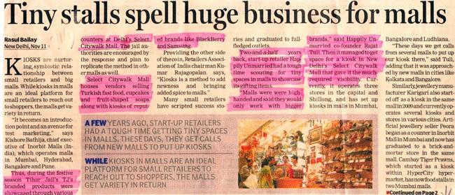 Tiny Stalls Spell Huge Business For Malls