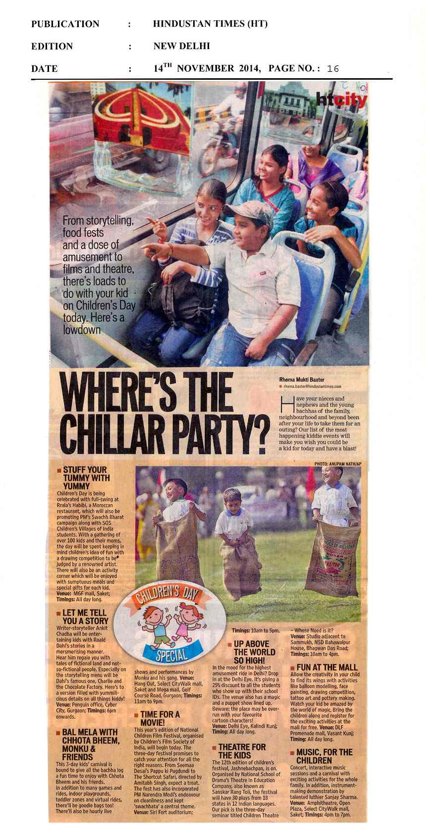 Where's The Chillar Party?