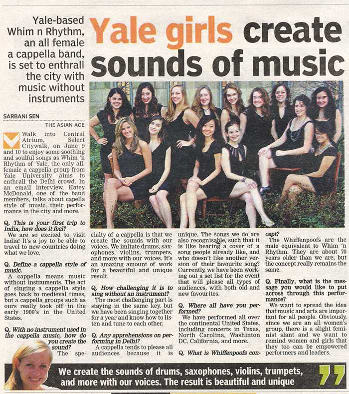 Yale Girls Create Sounds Of Music