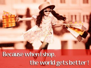 It brings out the shopaholic in you