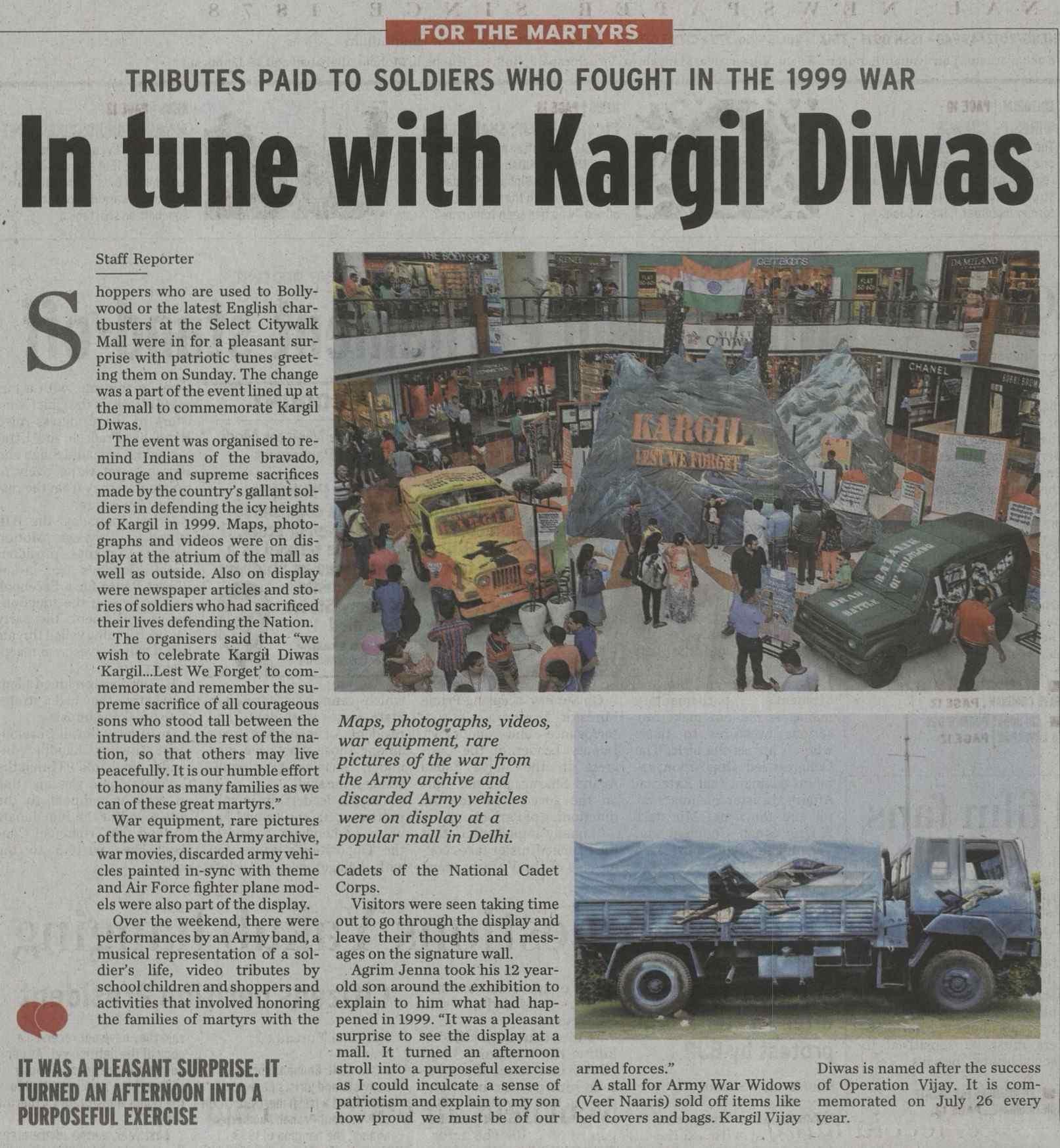 In tune with Kargil Diwas