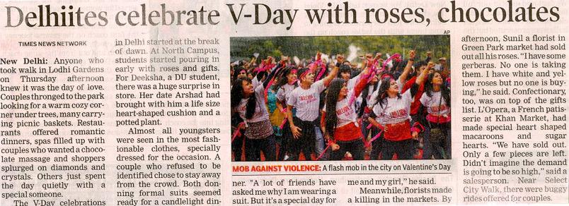 Delhiites Celebrate V-day With Roses, chocolates