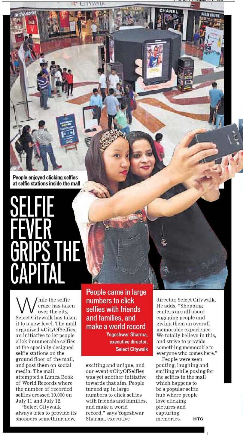 Selfie Fever Grips The Capital
