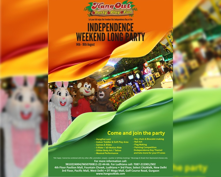 Independence Day Long Weekend Party at Hang Out Family Restaurant & Cafe