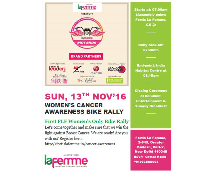 Women Cancer Awareness Bike Rally