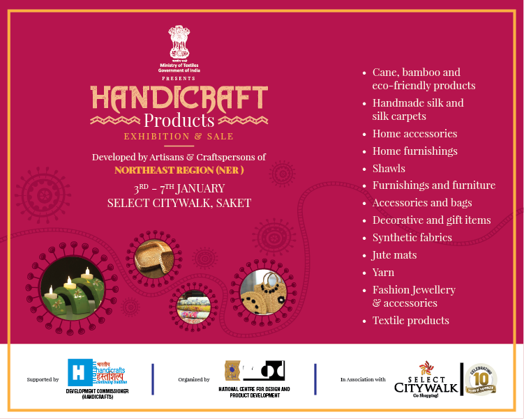 Exhibition Sale Handicraft Products Select Citywalk India