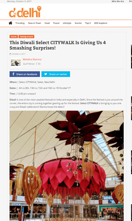This Diwali Select CITYWALK Is Giving Us 4 Smashing Surprises!