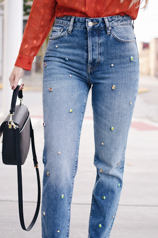cb7dc2c4 Embellished denim maybe a fad but one can pair it up with anything  effortlessly. A biker jacket from Mango to party wear long tops from Zara,  ...